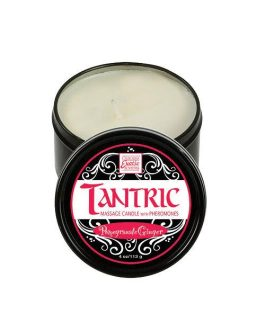 California Exotic Black Pomegranate Ginger – Tantric Soy Massage Candle with Pheromones