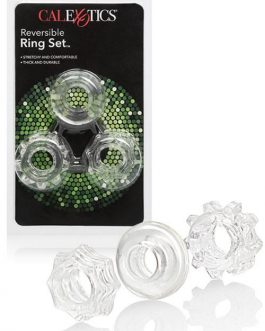 California Exotic Reversible Silicone Cock Ring Set (3 Pce)