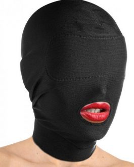 Master Series Open Mouth Hood and Padded Blindfold