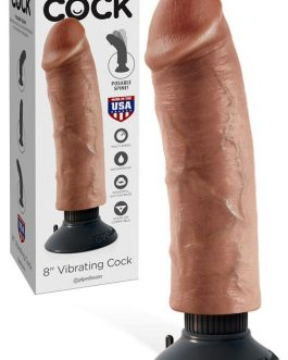 Pipedream Vibrating Bendable 8″ Dong with Removable Suction Cup