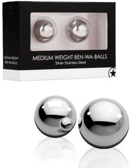 Shots Toys Medium Weight Stainless Steel Ben Wa Balls