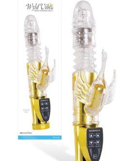 nsnovelties 9.5″ Thrusting & Rotating Beaded Swan Vibrator