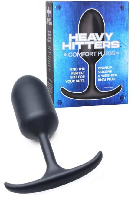 Heavy Hitters Premium Silicone Weighted Butt Plug - Large