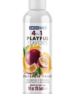 Swiss Navy 4-In-1 Playful Flavors Lubricant – Wild Passion Fruit (30ml)