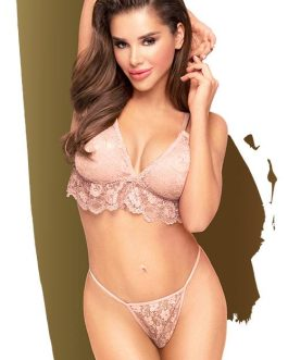 Penthouse Double Spice Nude Bra with Thong